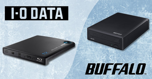 BD-XL Disc Burners from Buffalo & I-O Data