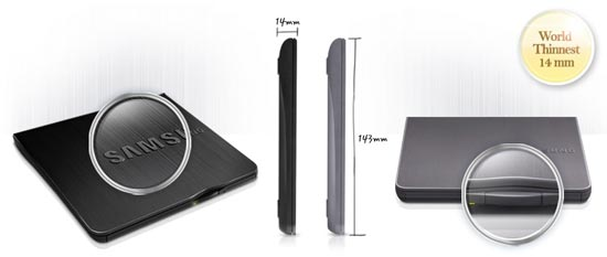 Samsung SE-218BB: Worlds Thinnest Optical Disc Drive
